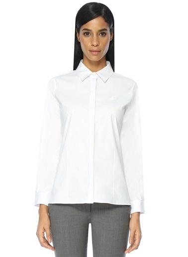 Beymen Club İngiliz Yaka Uzun Kollu Gömlek Beyaz